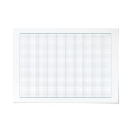 metric: Vector landscape orientation engineering graph paper with 10 and 7 metric divisions