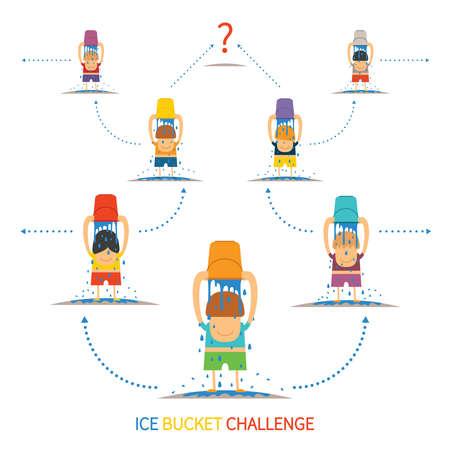 participant: Ice bucket challenge vector concept