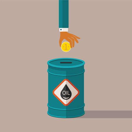 barril de petr�leo: concepto de aceite mineral de precios y costos de la industria