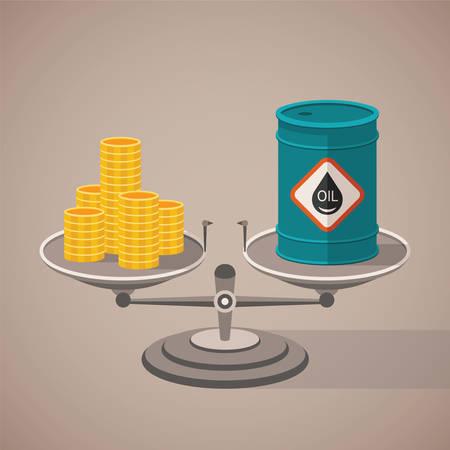 oil barrel: concepto de aceite mineral de precios y costos de la industria