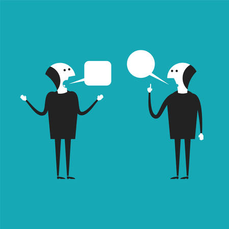 argumentation: Discussion vector concept in flat cartoon style