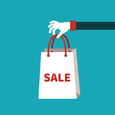 markdown: Sale concept in flat cartoon style
