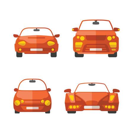 Ensemble de différentes voitures vecteur de passagers dans le style plat Banque d'images - 36895041