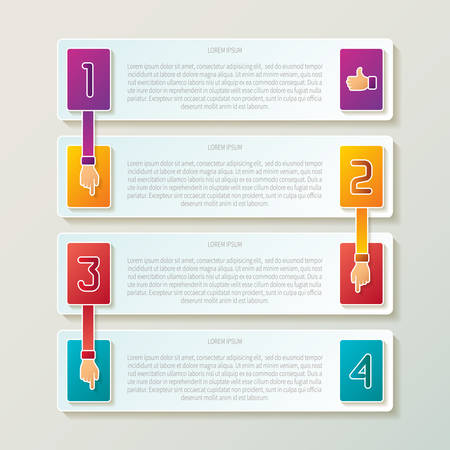 Abstract 4 steps infographic template in 3D style for layout workflow scheme, numbered options, chart or diagram
