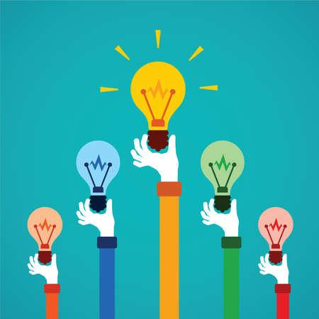 Kreativwettbewerb oder Reichtum Vektor-Konzept in flachen Stil Illustration