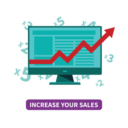 Increase your sales concept in flat style