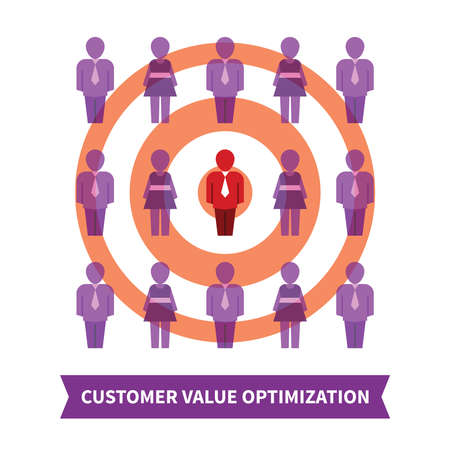 value system: Customer value optimization concept in flat style Illustration