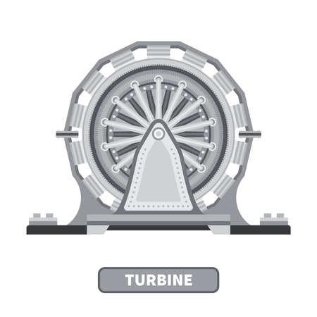 turbina: Vector de la turbina industrial en estilo plano