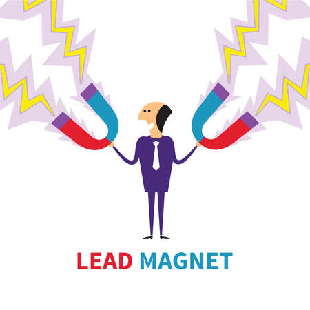 lead: Lead magnet vector concept in flat style