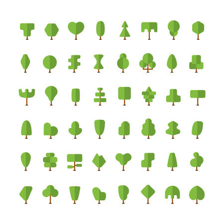 Flat vector simple trees bundle in flat style