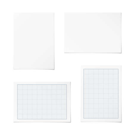 grid paper: portrait and landscape orientation paper templates