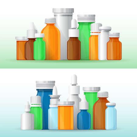 medical bottles: medical bottles in flat style