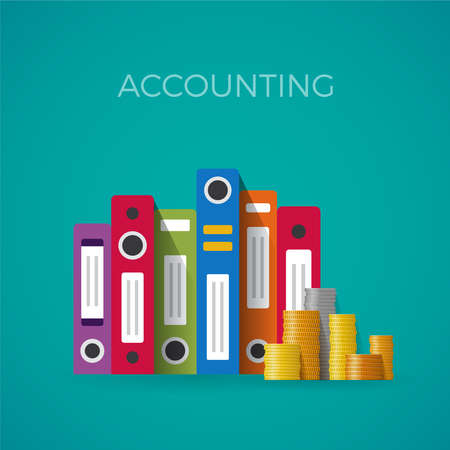out of context: accounting concept in flat style