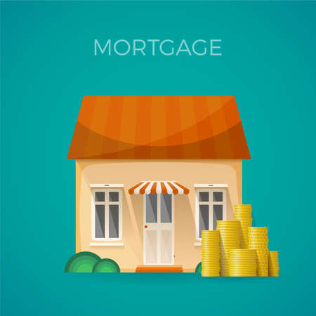 upkeep: Mortgage expenses concept in flat style
