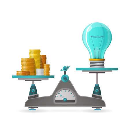 profitable: Profitable idea vector concept in flat style Illustration