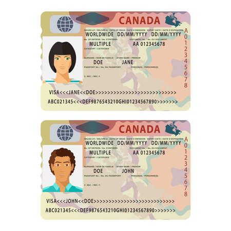 passeport international Vecteur Canada Vecteurs
