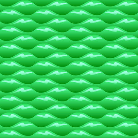 Green poisoned water waves seamless vector texture or pattern