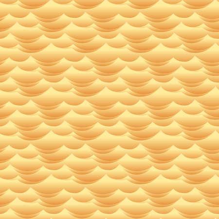 yellow landscape: Desert sand dune waves seamless vector texture or pattern Illustration