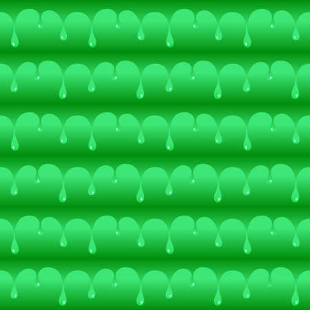 Green poisoned water drops seamless vector texture or pattern