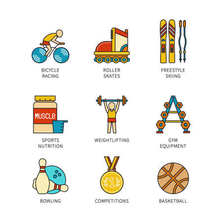rollerblades: Vector minimal lineart flat sports iconset