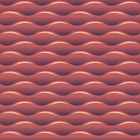 Red water waves seamless vector background texture Illustration