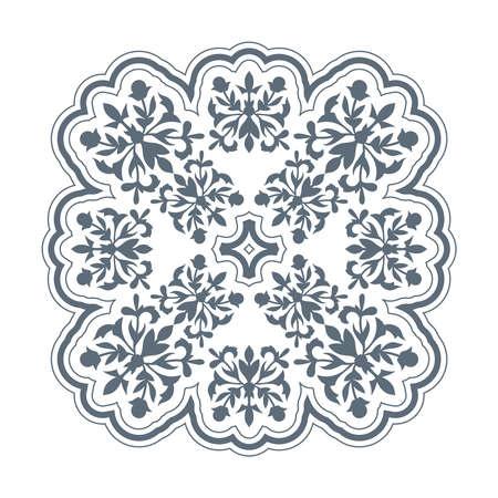 Old fashioned floral design element