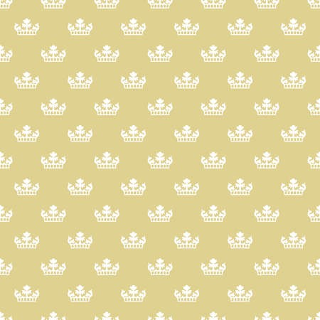 Old fashioned royal seamless texture with crowns 向量圖像