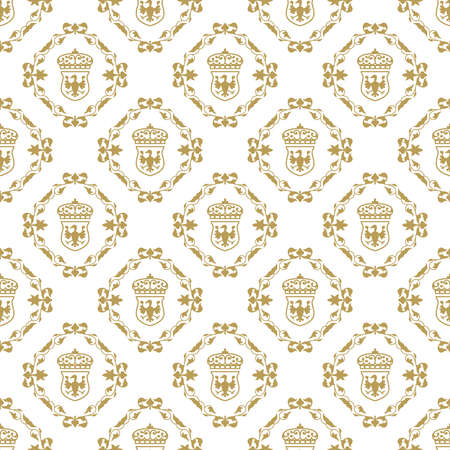 Old fashioned floral royal texture pattern.