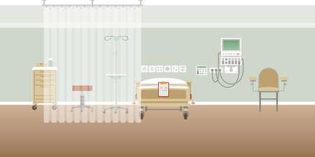 Interior de la sala médica personal del hospital