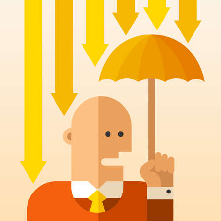 Business risks avoidance vector concept in flat style.