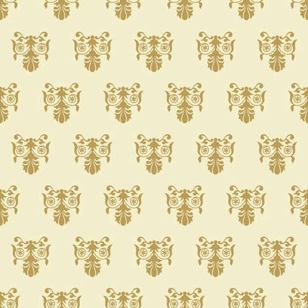 Old fashioned floral royal seamless texture 向量圖像