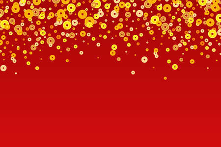 Vector golden Chinese New Year coins background Illustration