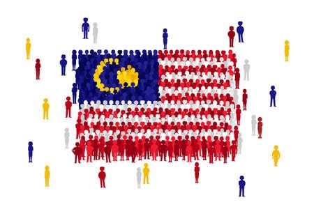 Vlag van Maleisië Vector Vector Illustratie