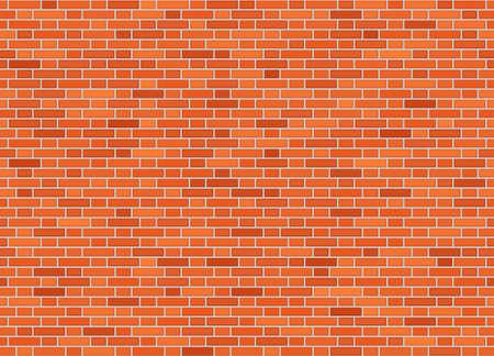 Vector seamless flemish bond brick wall texture  イラスト・ベクター素材