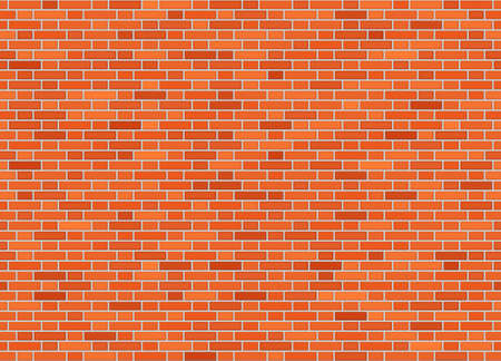 Vector seamless flemish bond brick wall texture Stock Illustratie
