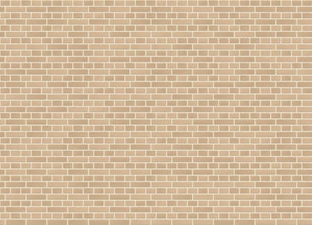 English classic bond sandstone brick wall texture vector pattern.