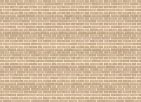 Vector seamless English cross bond sandstone brick wall texture.