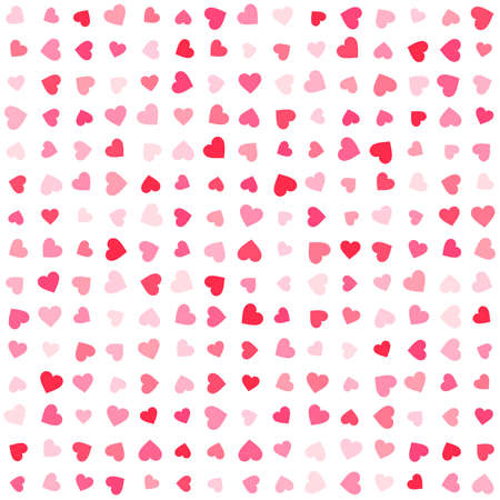 Vector pink & red Valentines Day heartshapes background element in flat style Illustration