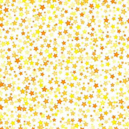 Vector yellow stars background element in flat style