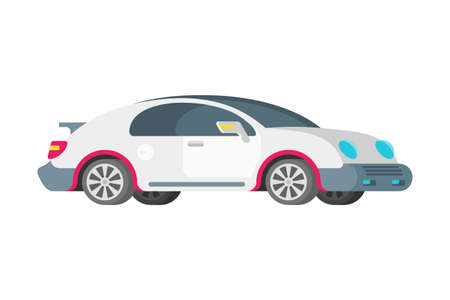 Vector passenger luxury sport car in flat style
