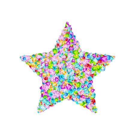 Vector colorful gem stones star symbol Illustration