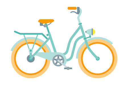 Vector bicycle in flat style isolated on white Vektorgrafik