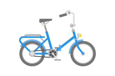 Bicicletta di vettore in stile piano isolato su bianco