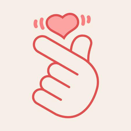 Korean heart hand gesture symbol