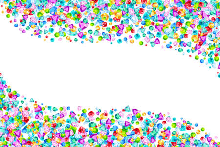 Vector colorful gem stones background element in flat style