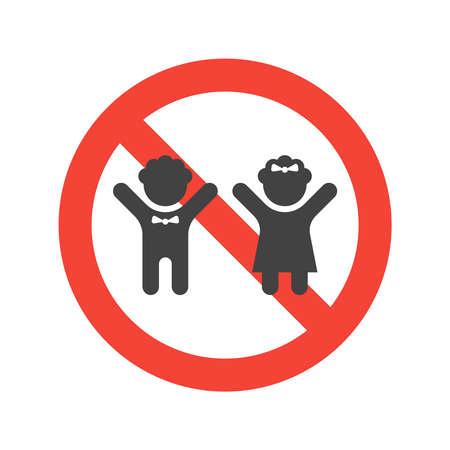 Icône de vecteur silhouette minimale enfants
