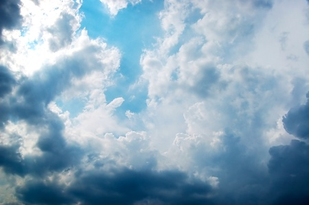 Nubes profundas antes de trueno Foto de archivo