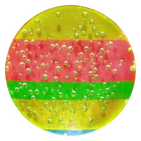 Rainbow globe with bubbles Standard-Bild