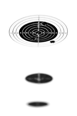Los objetivos para armas de aire comprimido (se utiliza con agujeros de bala)