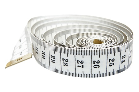 unwound: Measure tape  Isolated over white